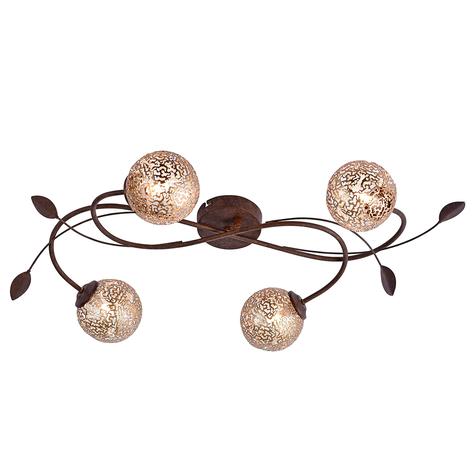 Deckenlampe Greta in floralem Design, 4-fl.