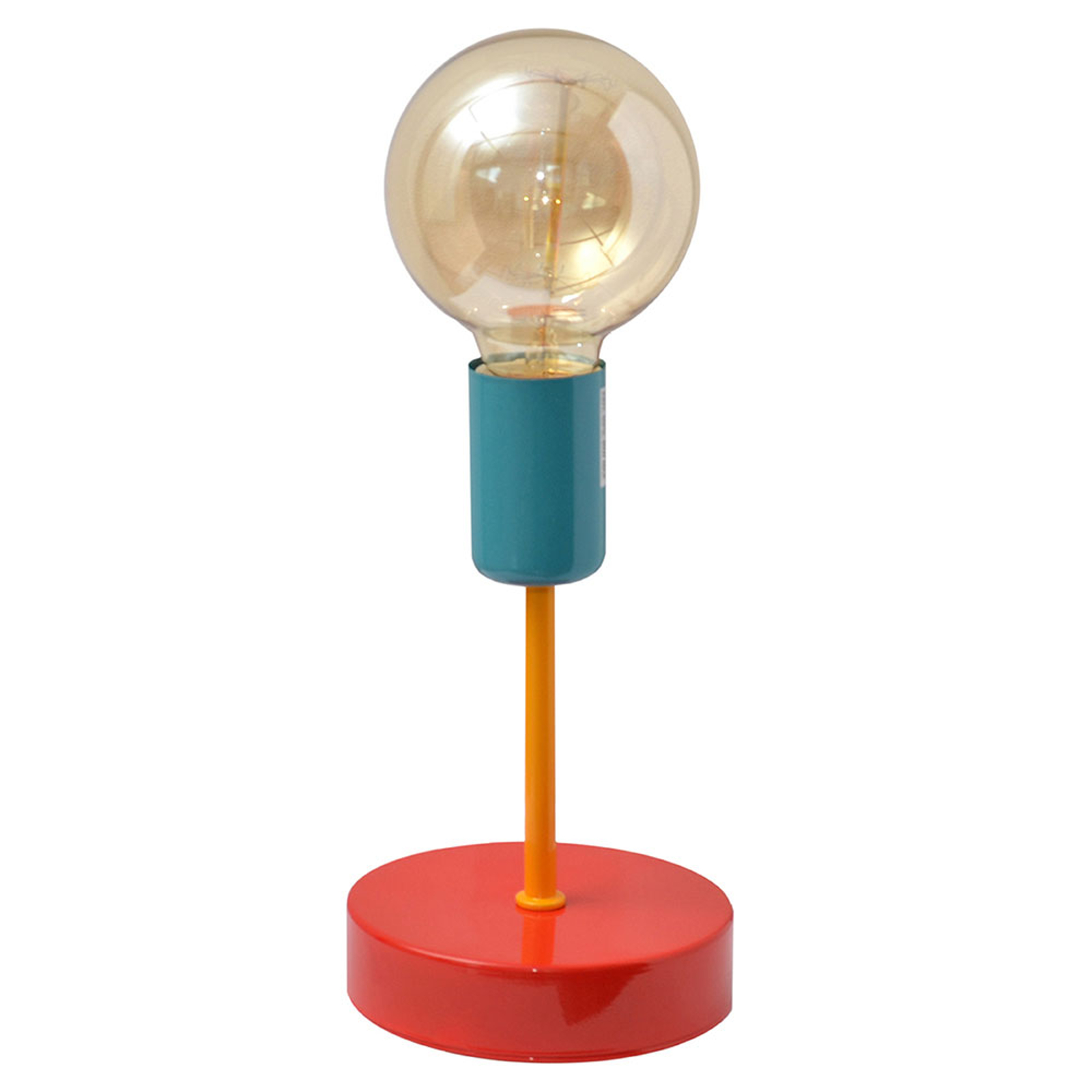 Lampe table colorée Oxford rouge/orange/turquoise