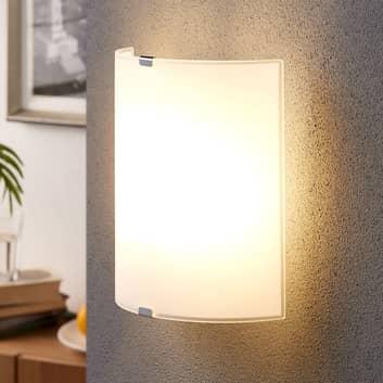 Eenvoudige glazen wandlamp Phil