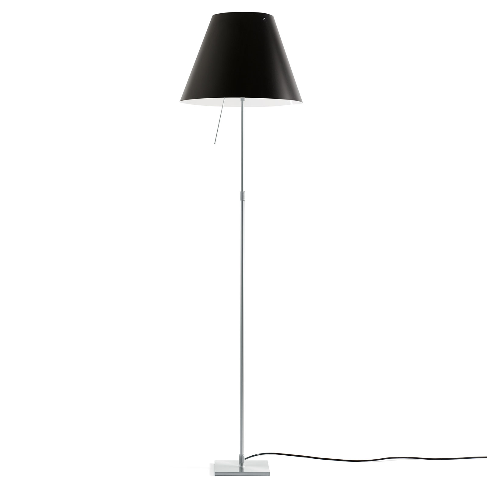 Luceplan Costanza vloerlamp D13t, alu/zwart
