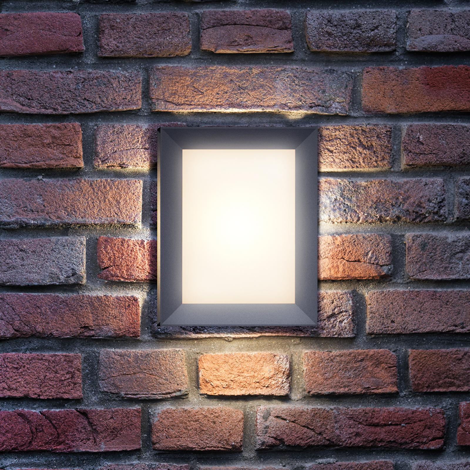 Rechthoekige outdoor wandlamp Karp met LED licht