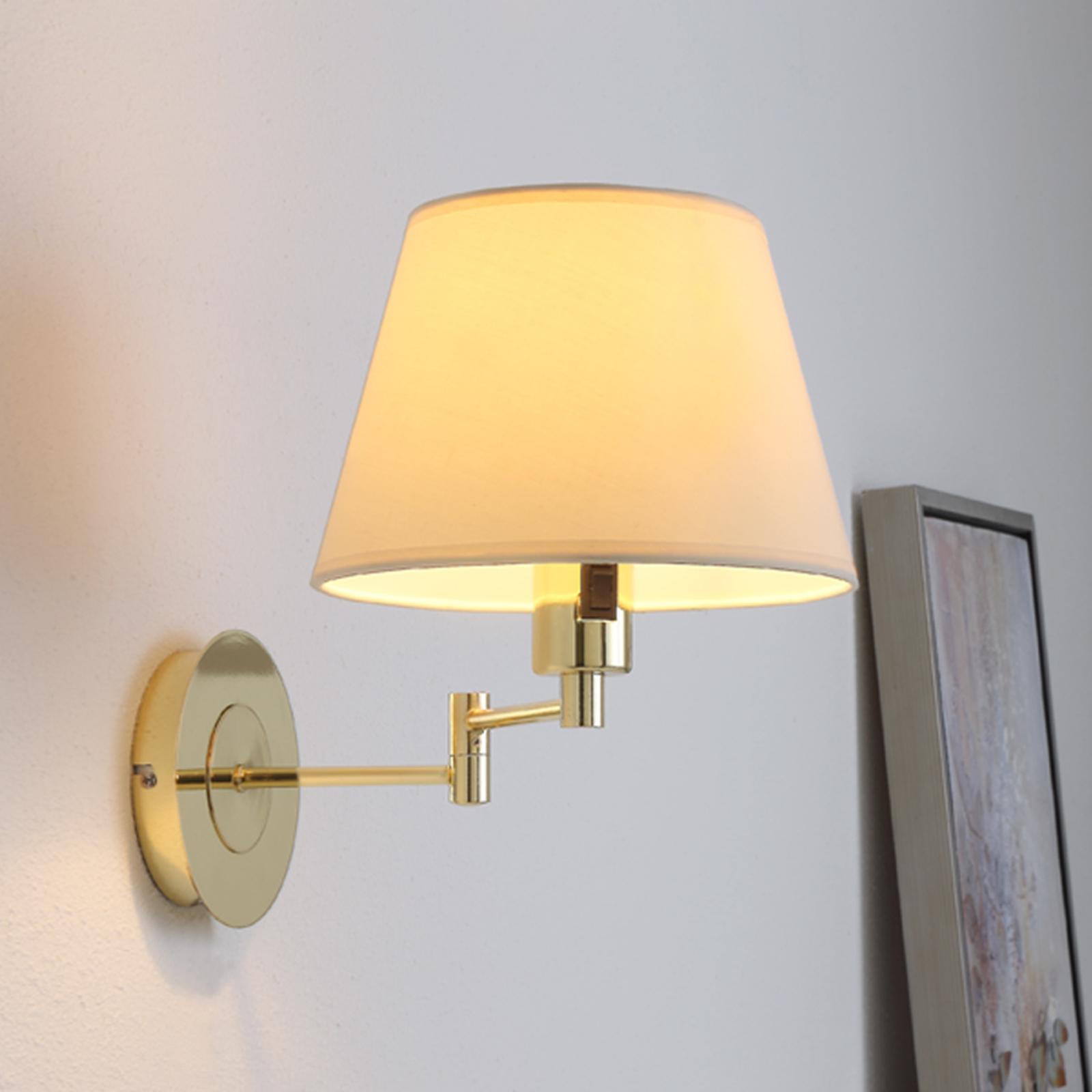 Pola - lampada da parete estraibile ottone lucido