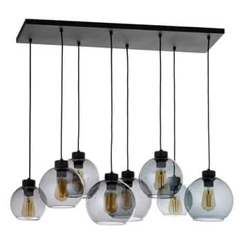 Lámpara colgante Cubus, 8 luces, grafito