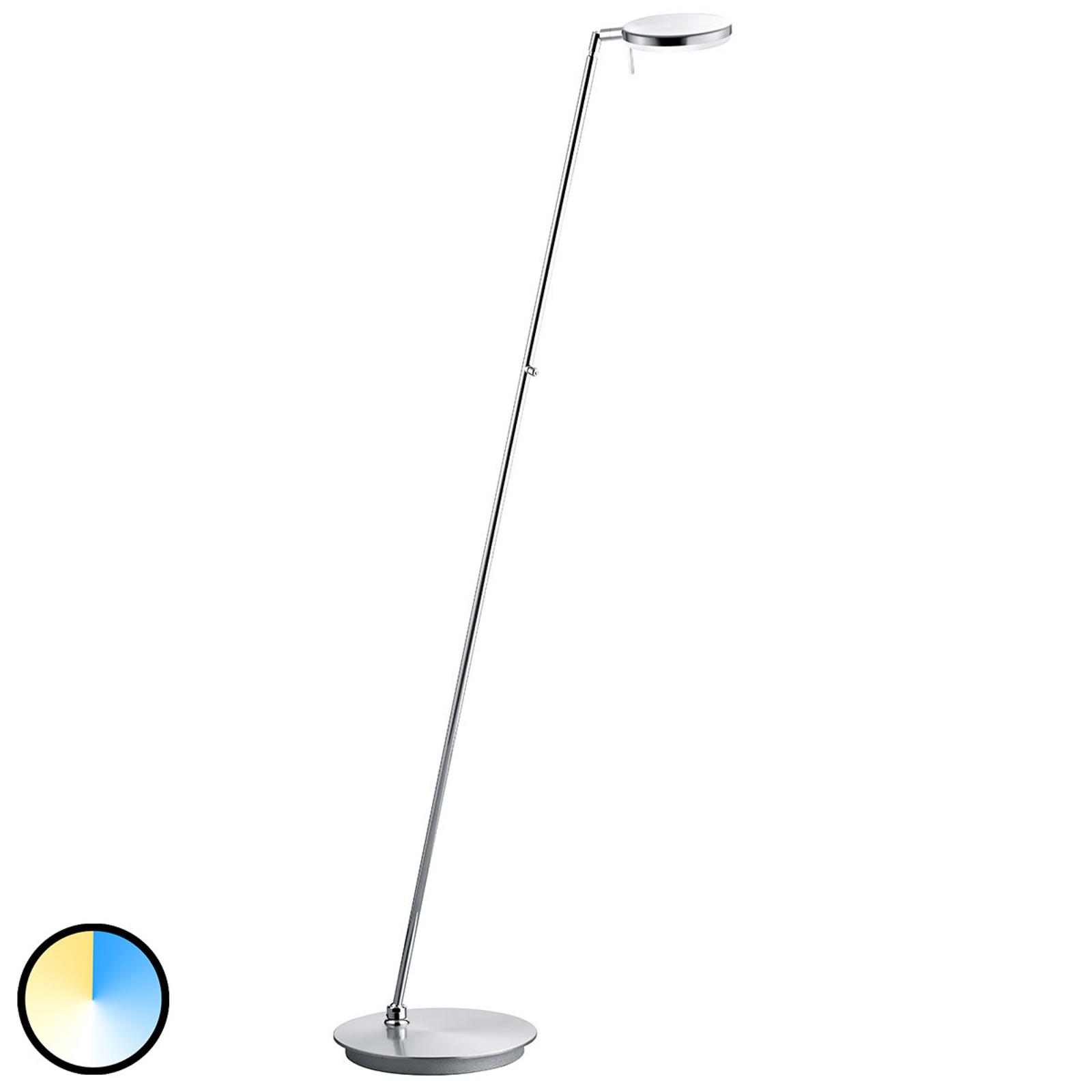 B-Leuchten Omega vloerlamp CCT-technologie nikkel