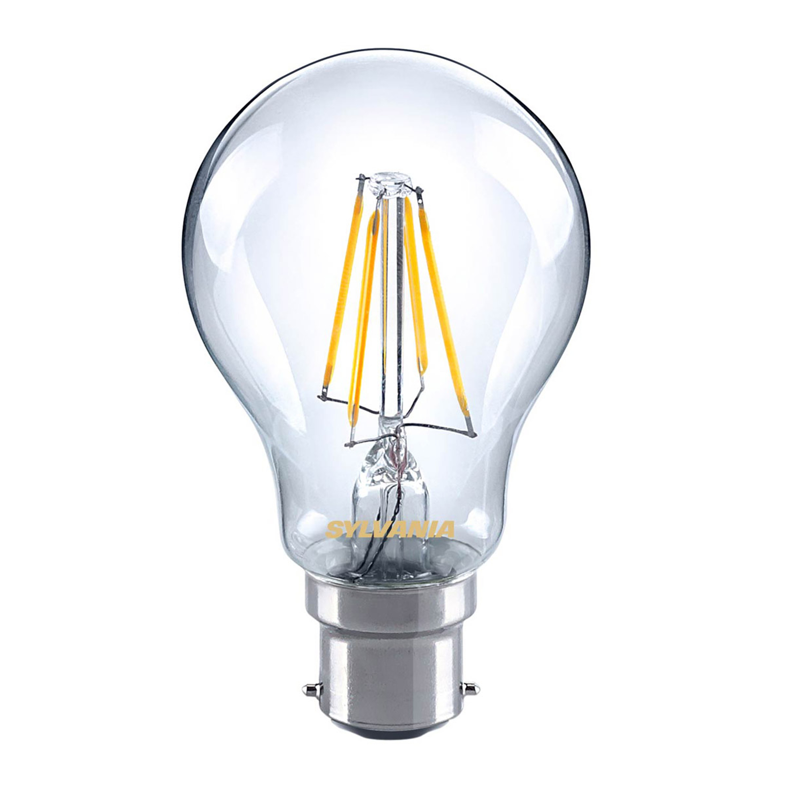B22 4,5W 827 LED-filament lyspære, klar