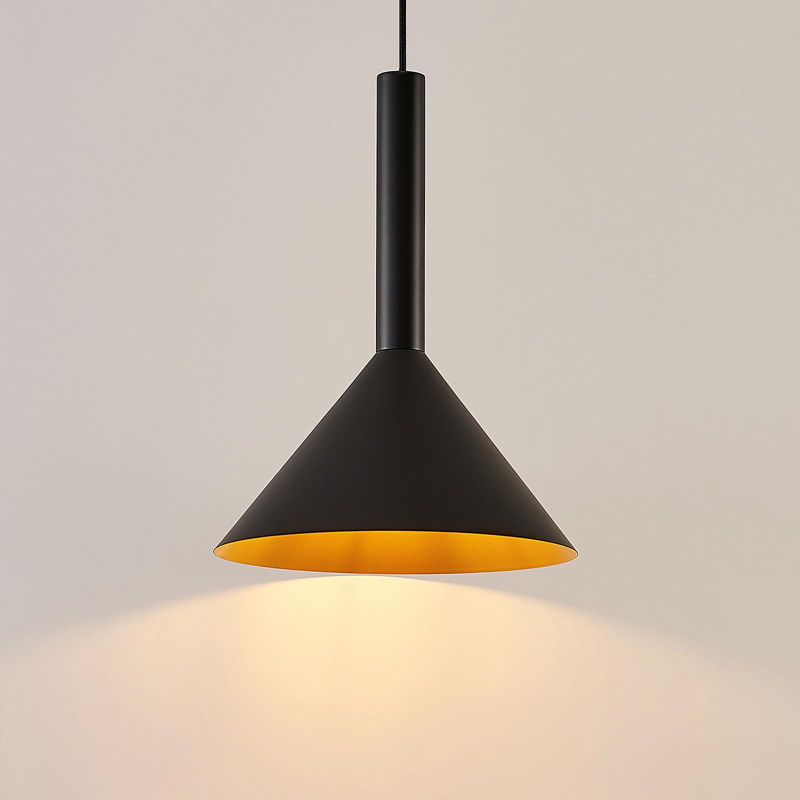 Arcchio Tadej hanglamp 1-lamp 30 cm zwart-goud