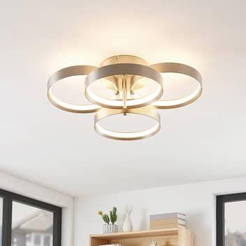 Lucande Naylia Lampa sufitowa LED, nikiel