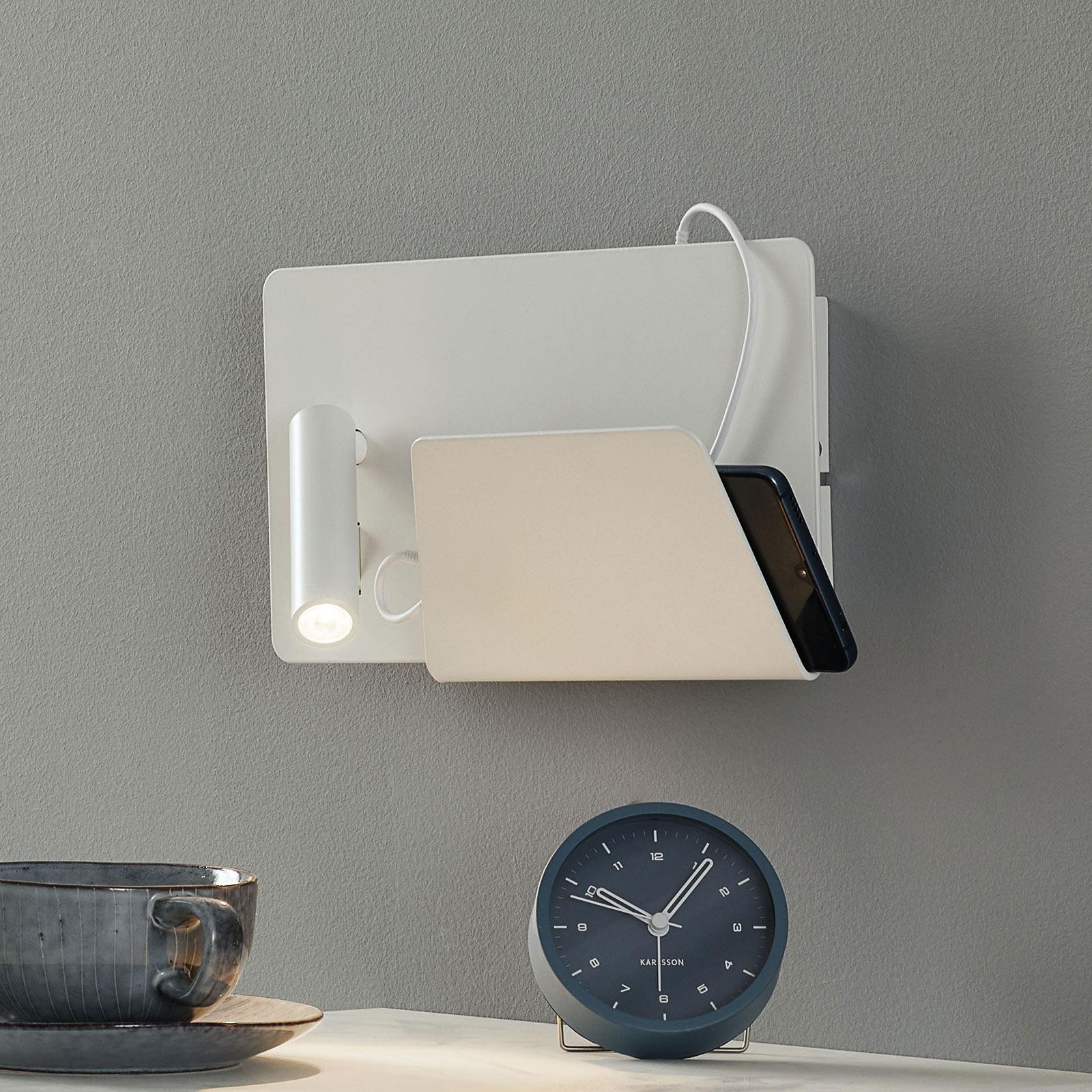 Applique LED moderne Suau avec fiche chargeur USB