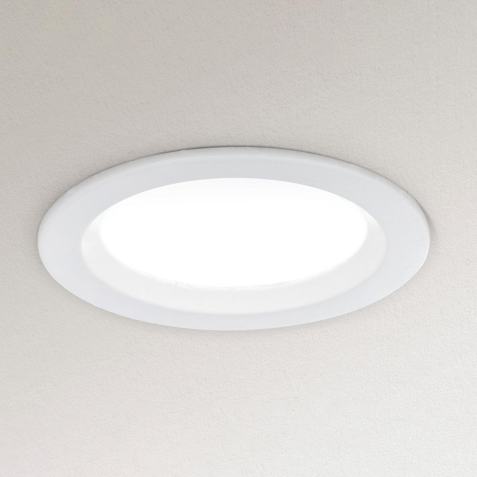 Downlight LED dimmerabile Spock Ø 9 cm bianco