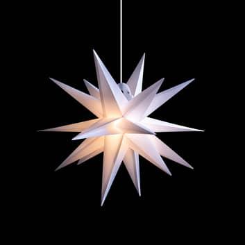 Stella LED da esterni, 18 punte, bianco, Ø 40 cm