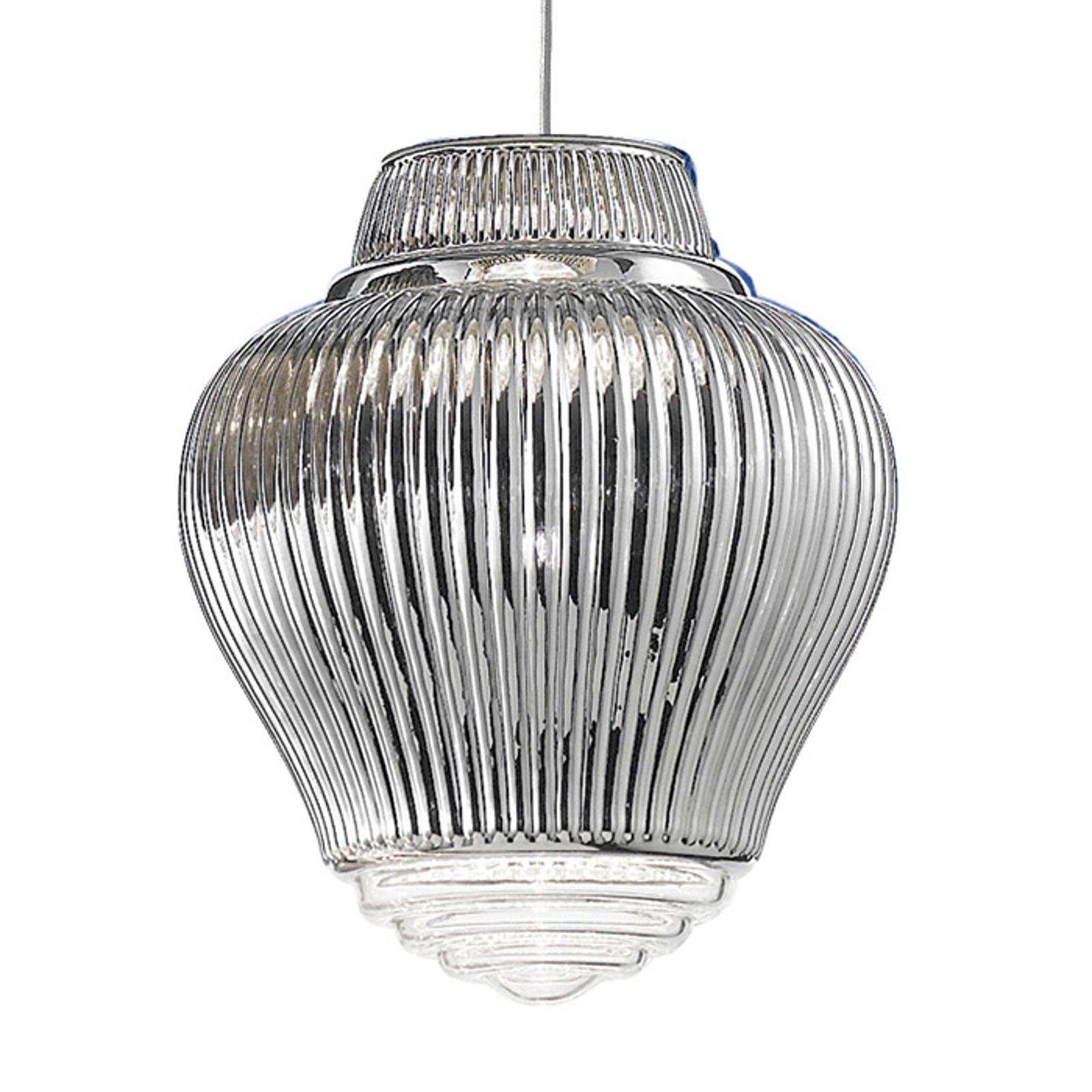 Lampa wisząca Clyde 130 cm srebrna metallic