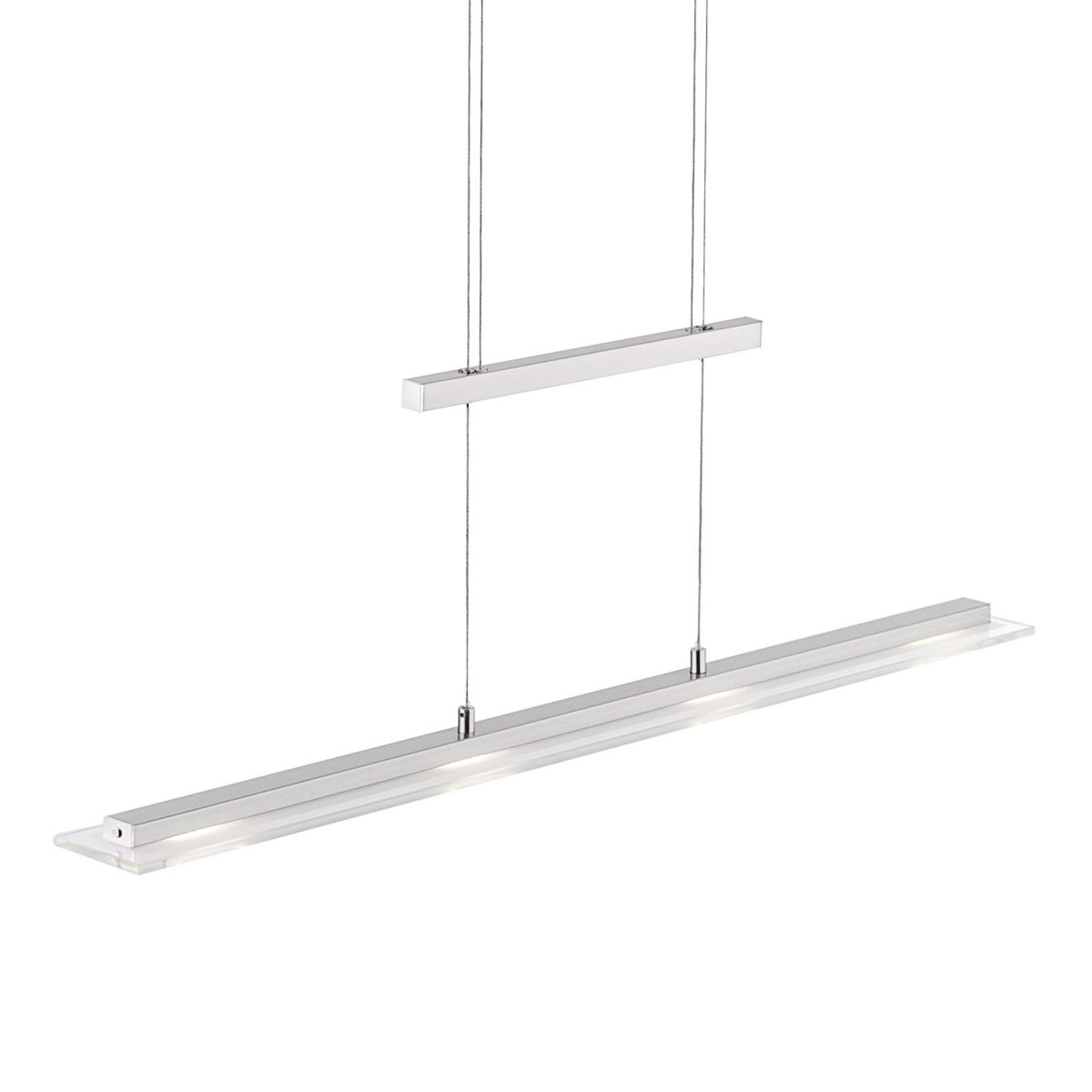 Lampada a sospensione LED Tenso dimmer nichel 64cm