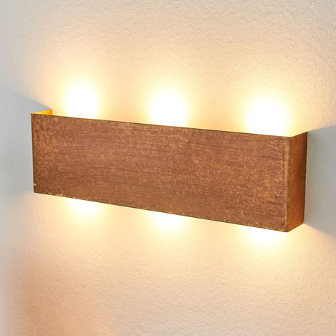 Applique LED Maja, aspect rouillé tendance