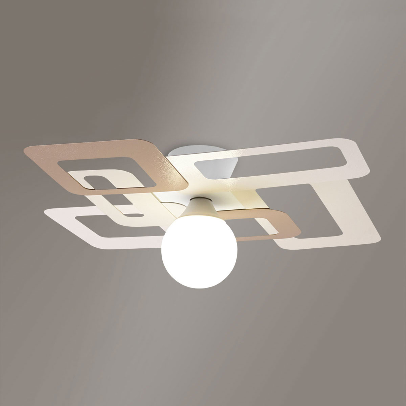 Niezwykła lampa sufitowa KUADRA
