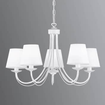 Kroonluchter Cortez, wit, 5-lamps