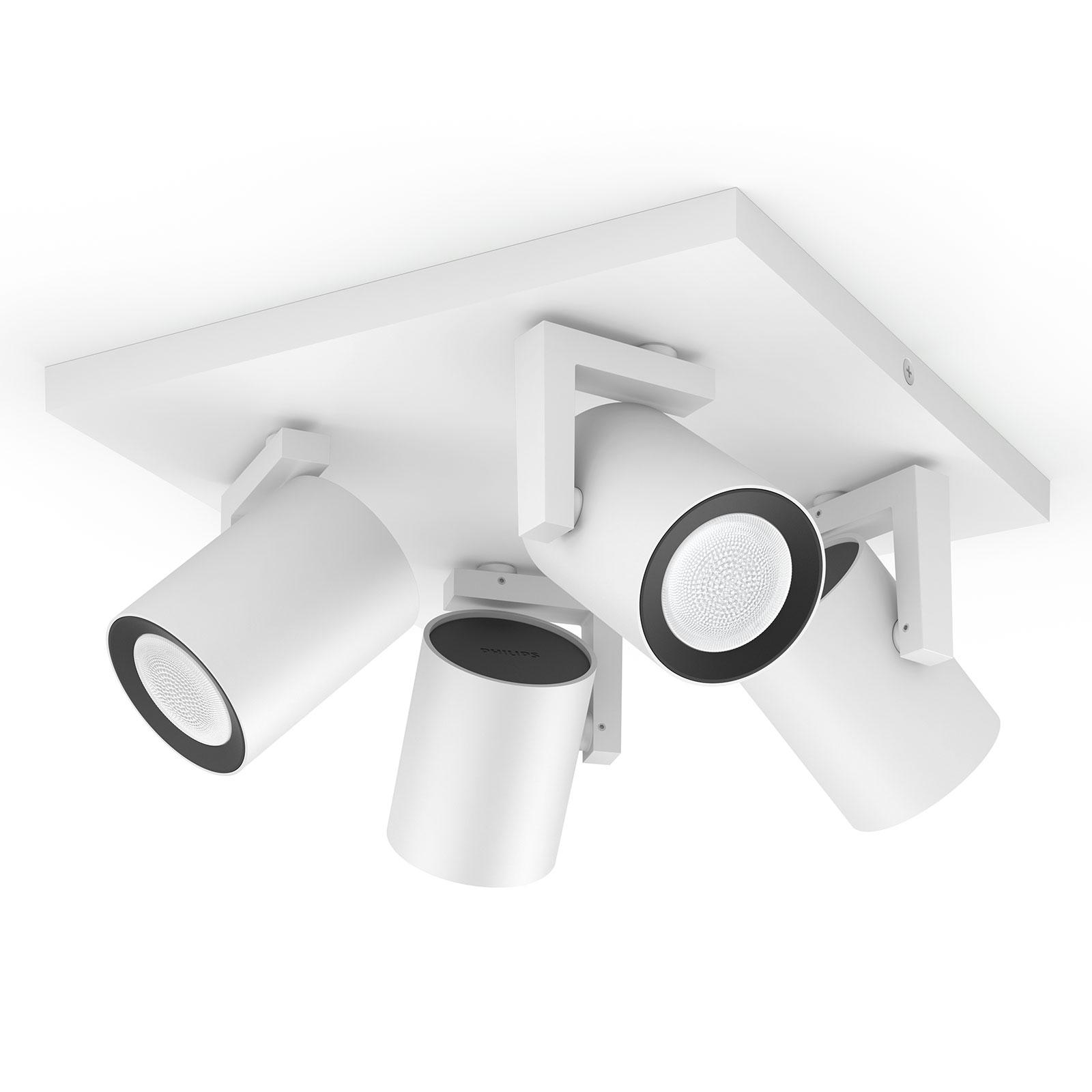 Philips Hue Argenta LED-spotlight, 4 lampor, vit