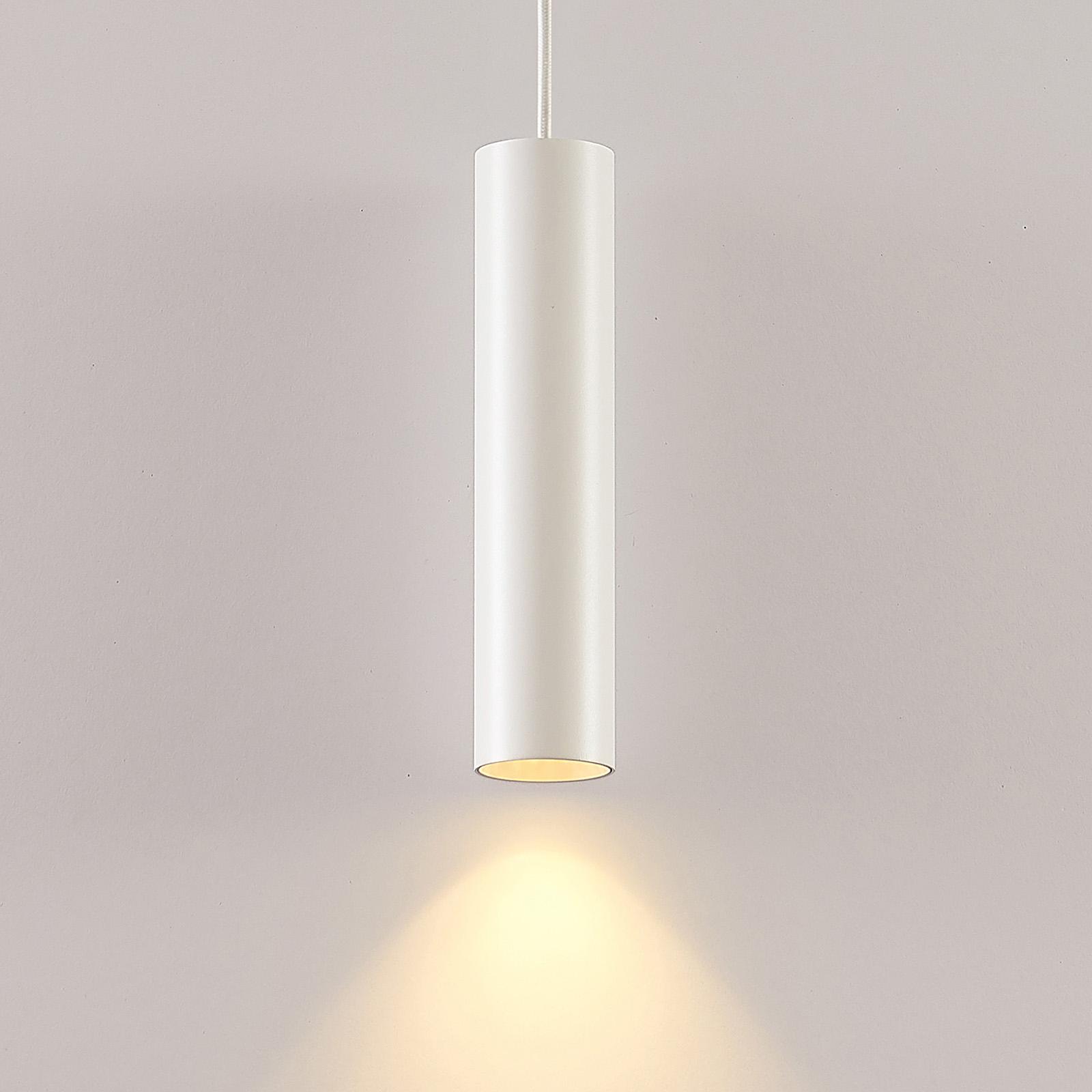Arcchio Ejona lampa wisząca, wysokość 27 cm, biała