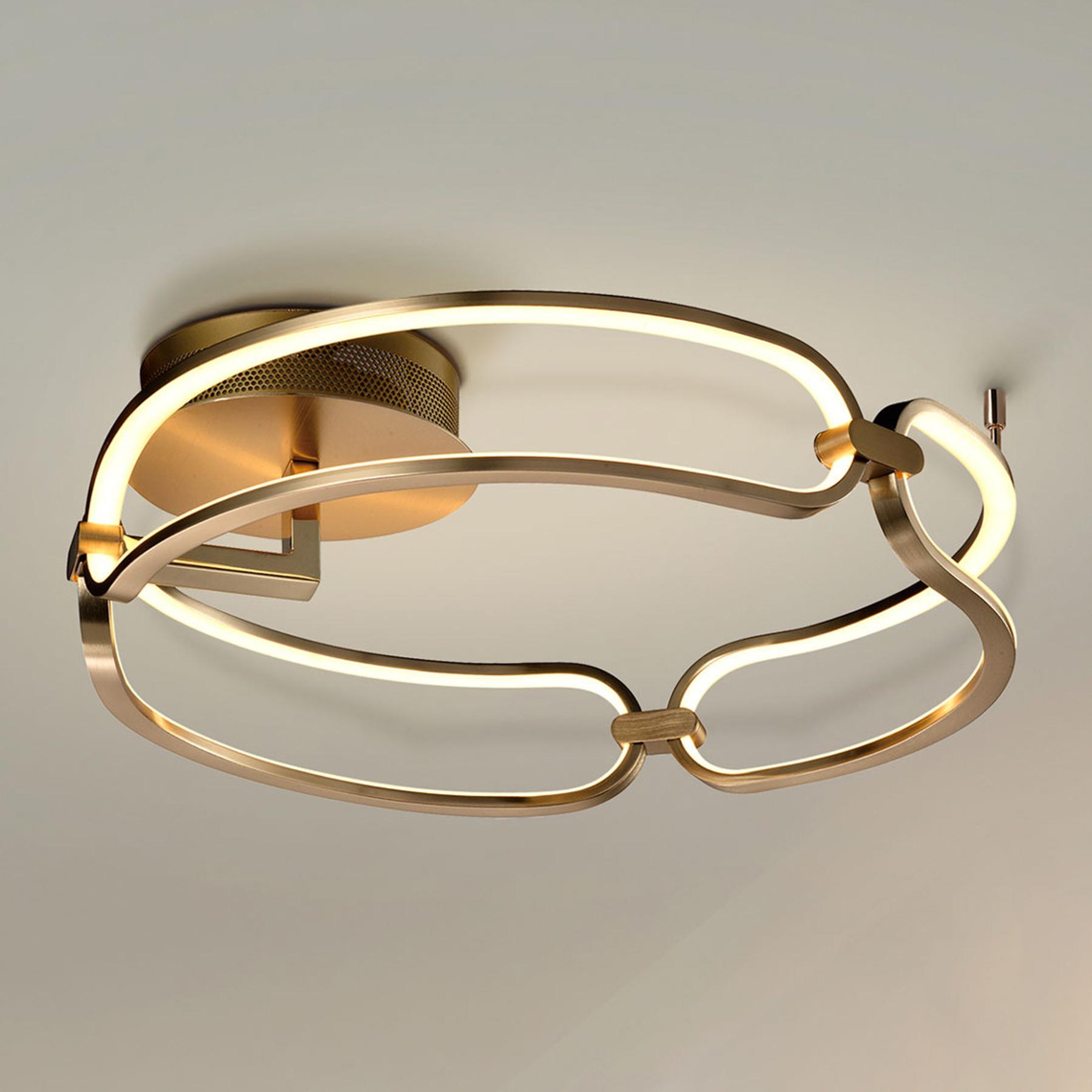 Lampa sufitowa LED Colette 3-punktowa różowe złoto