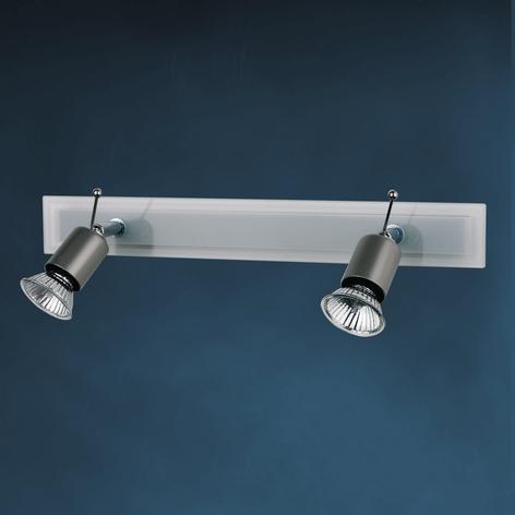 SARA loftlampe m. glasafdækning, 2 lyskilder