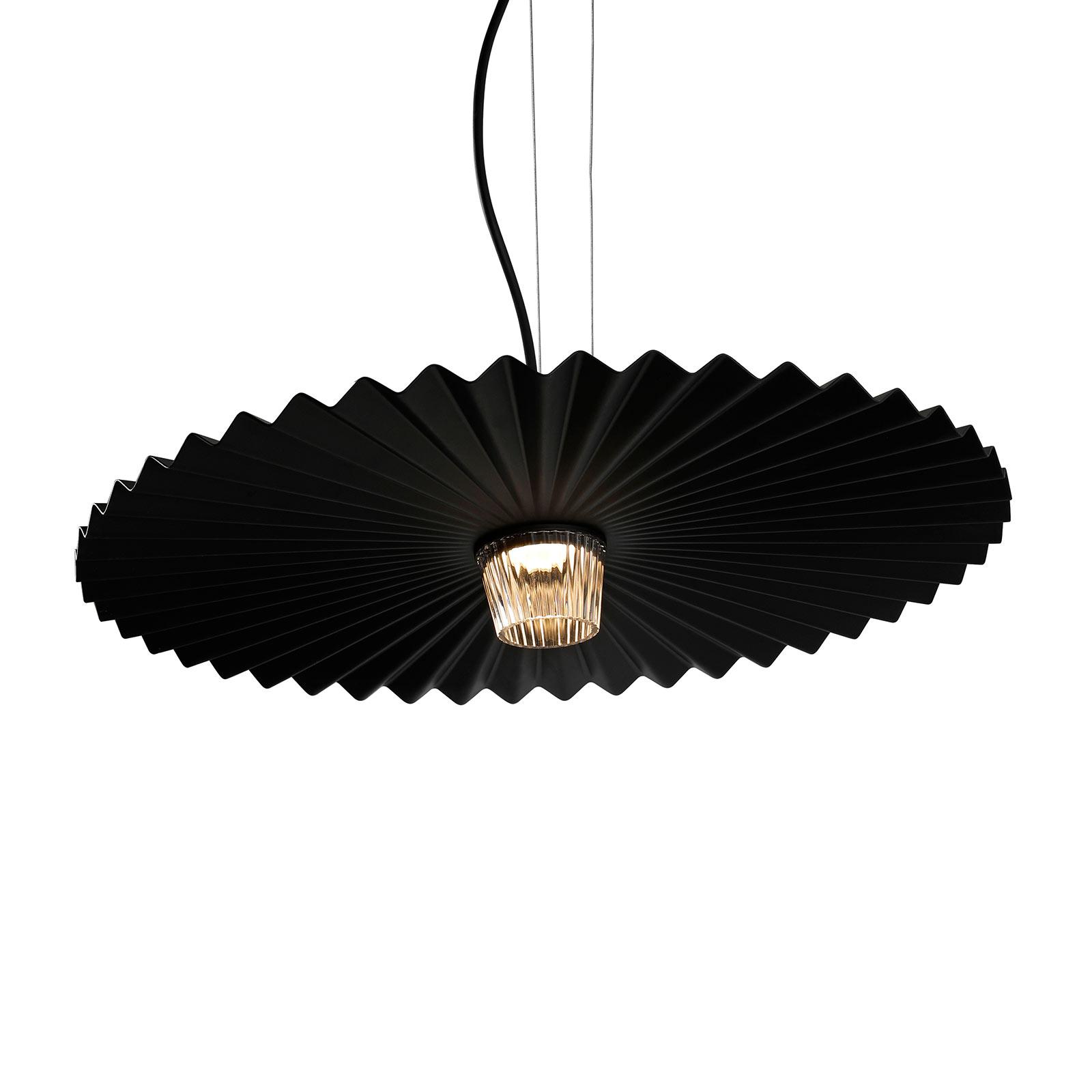 Karman Gonzaga LED závěsné světlo, Ø 59 cm, černá