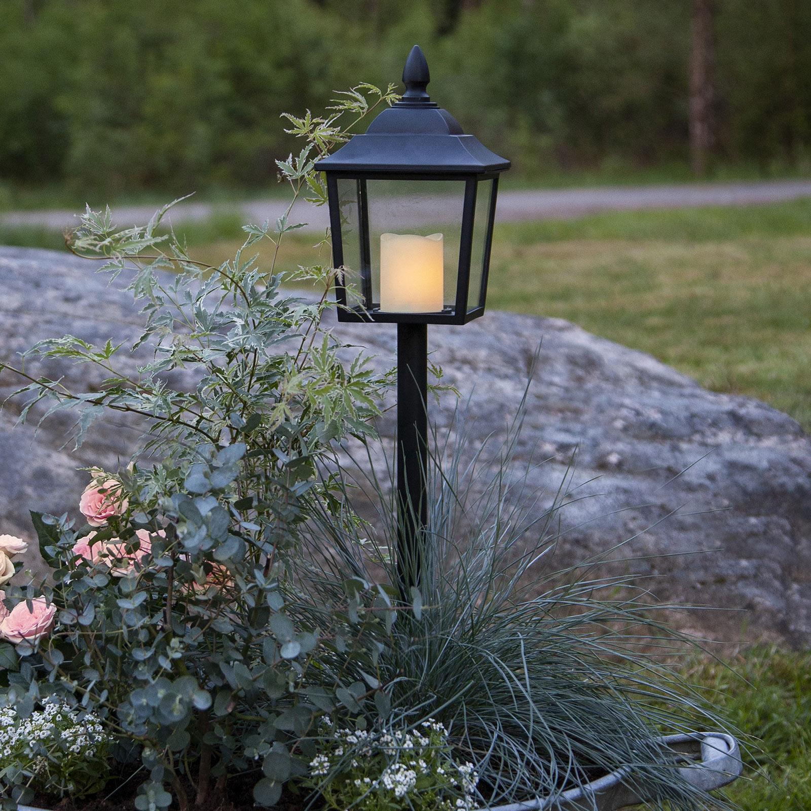 LED-gravlykt Flame Lantern, høyde 52 cm