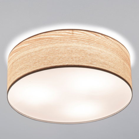 Élégant plafonnier Liska en bois clair