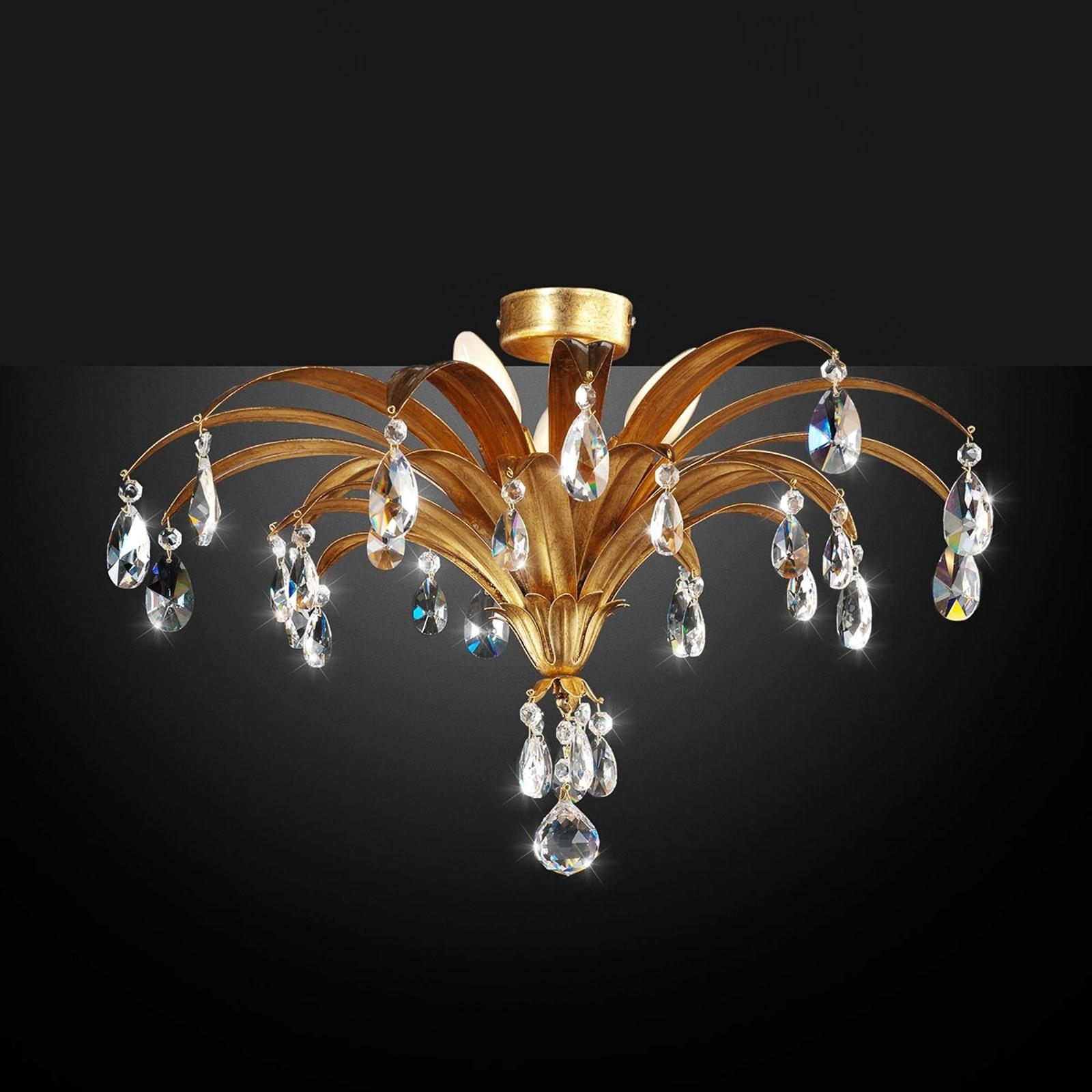 Chique plafondlamp Mayleen met kristallen