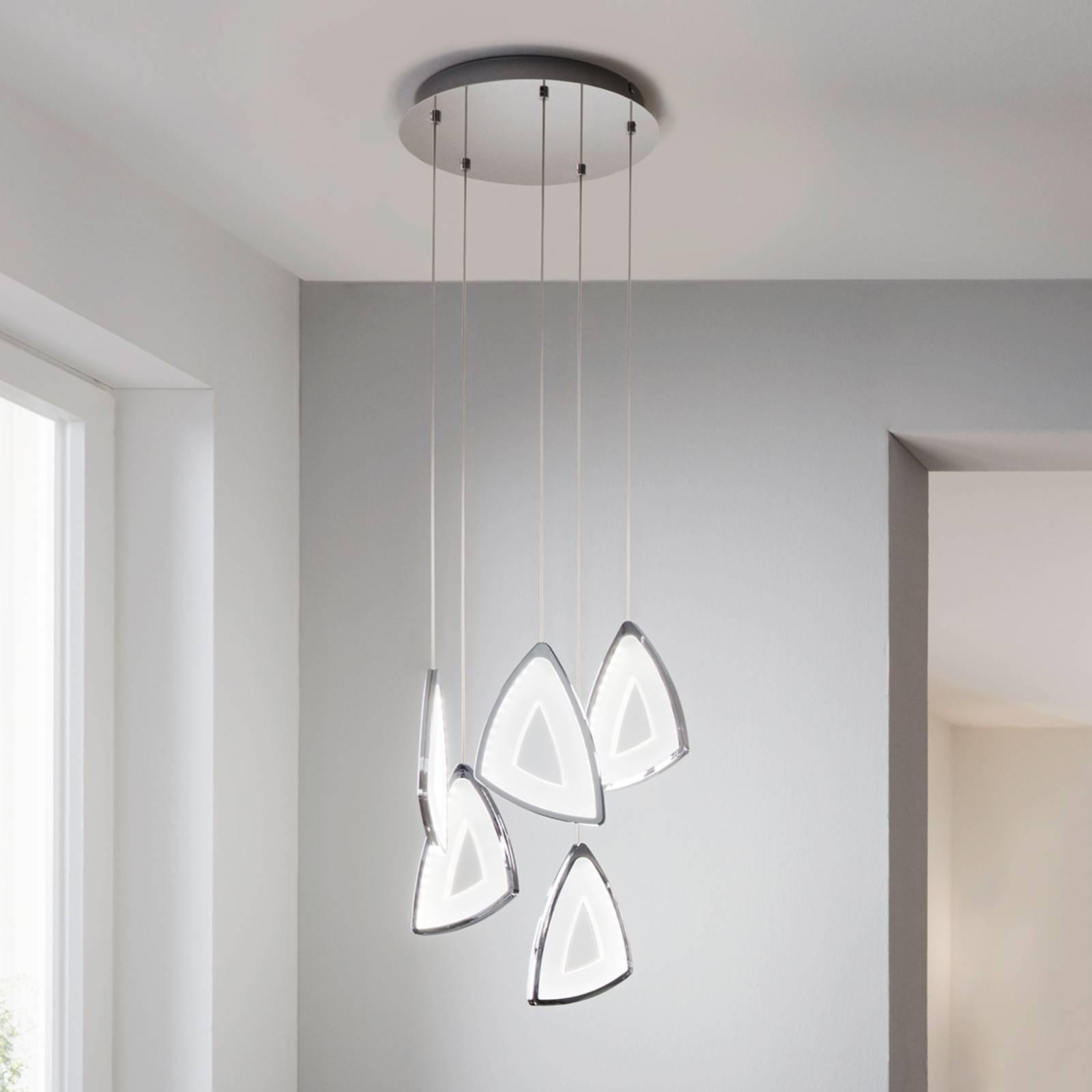 Suspension LED Amonde de forme futuriste