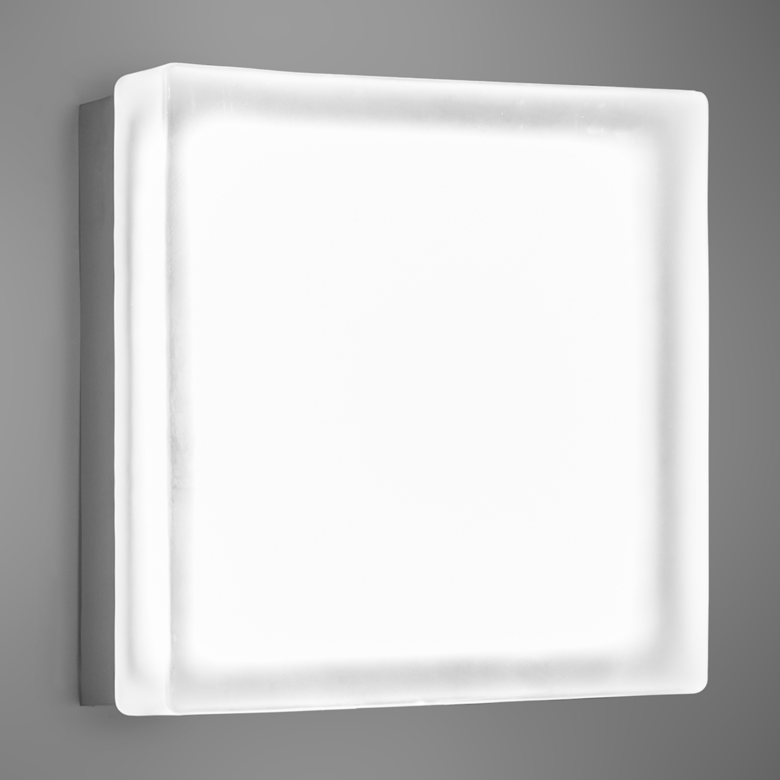 Vierkante led wandlamp Briq 02 universeel wit