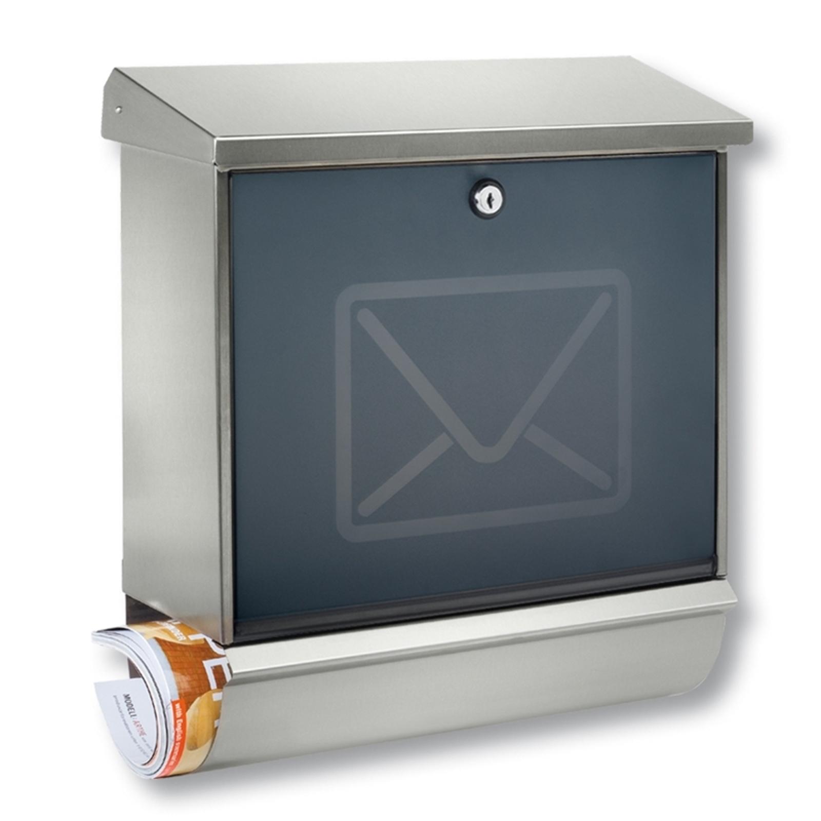 Lucca-postilaatikko, ruost. teräs, kirjekuviointi