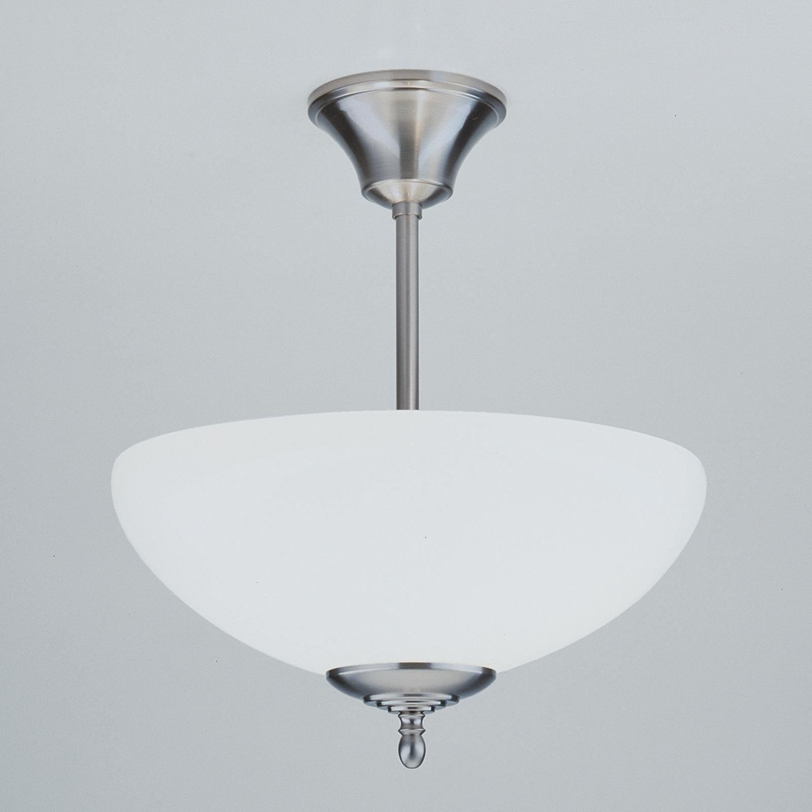 Den håndlavede loftslampe ANNI, nikkel