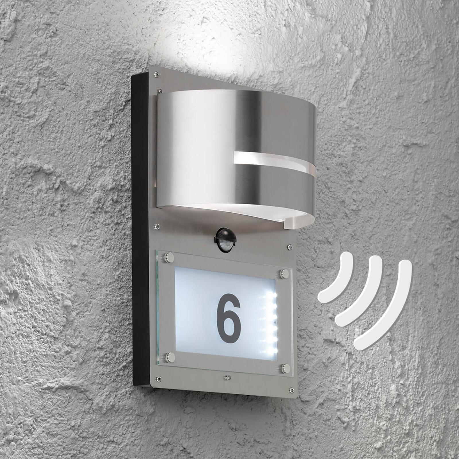 Marvel - lampa z numerem domu i czujnikiem ruchu