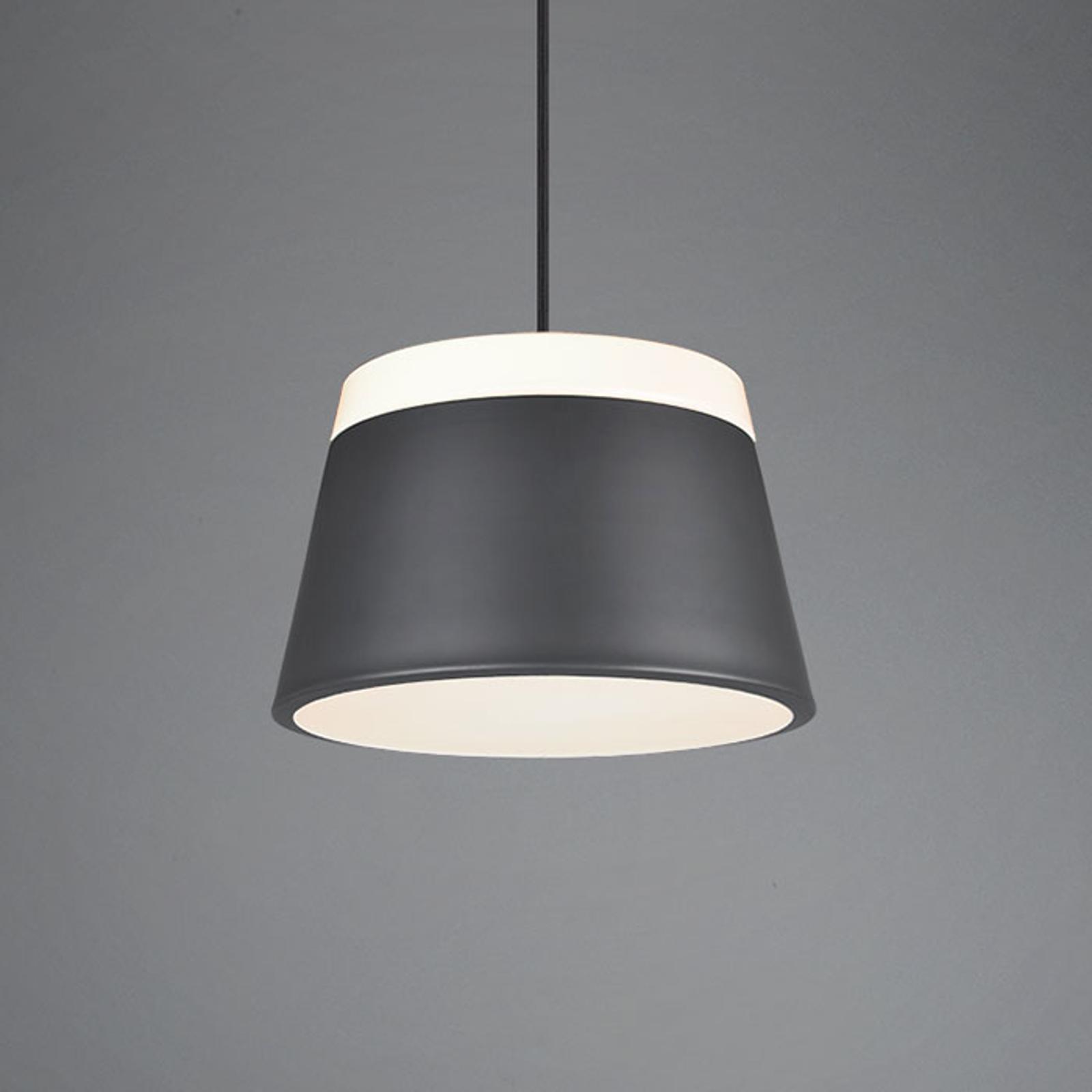 Lampa wisząca Baroness Ø 25 cm, antracyt