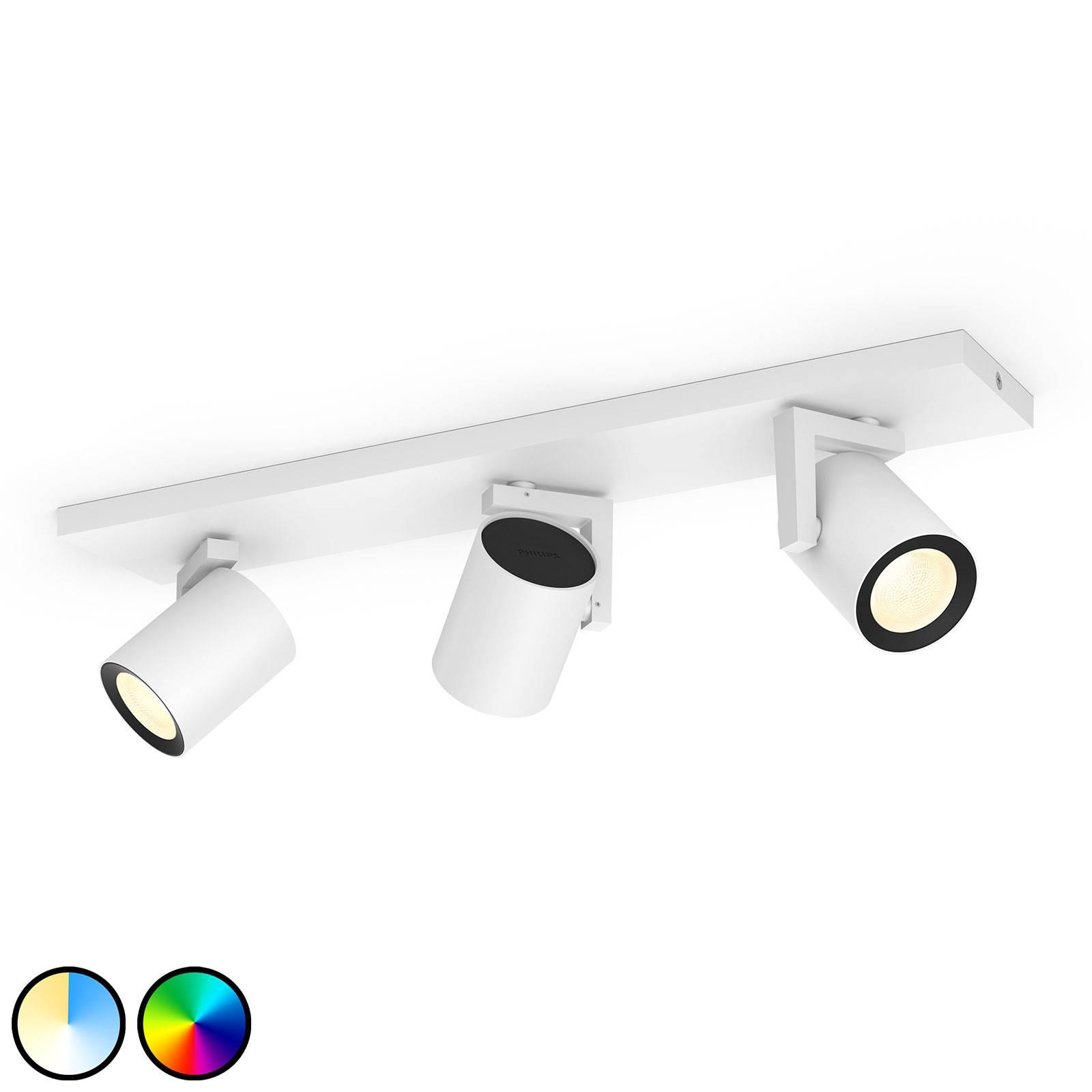 Philips Hue Argenta spot LED 3 luci, bianco