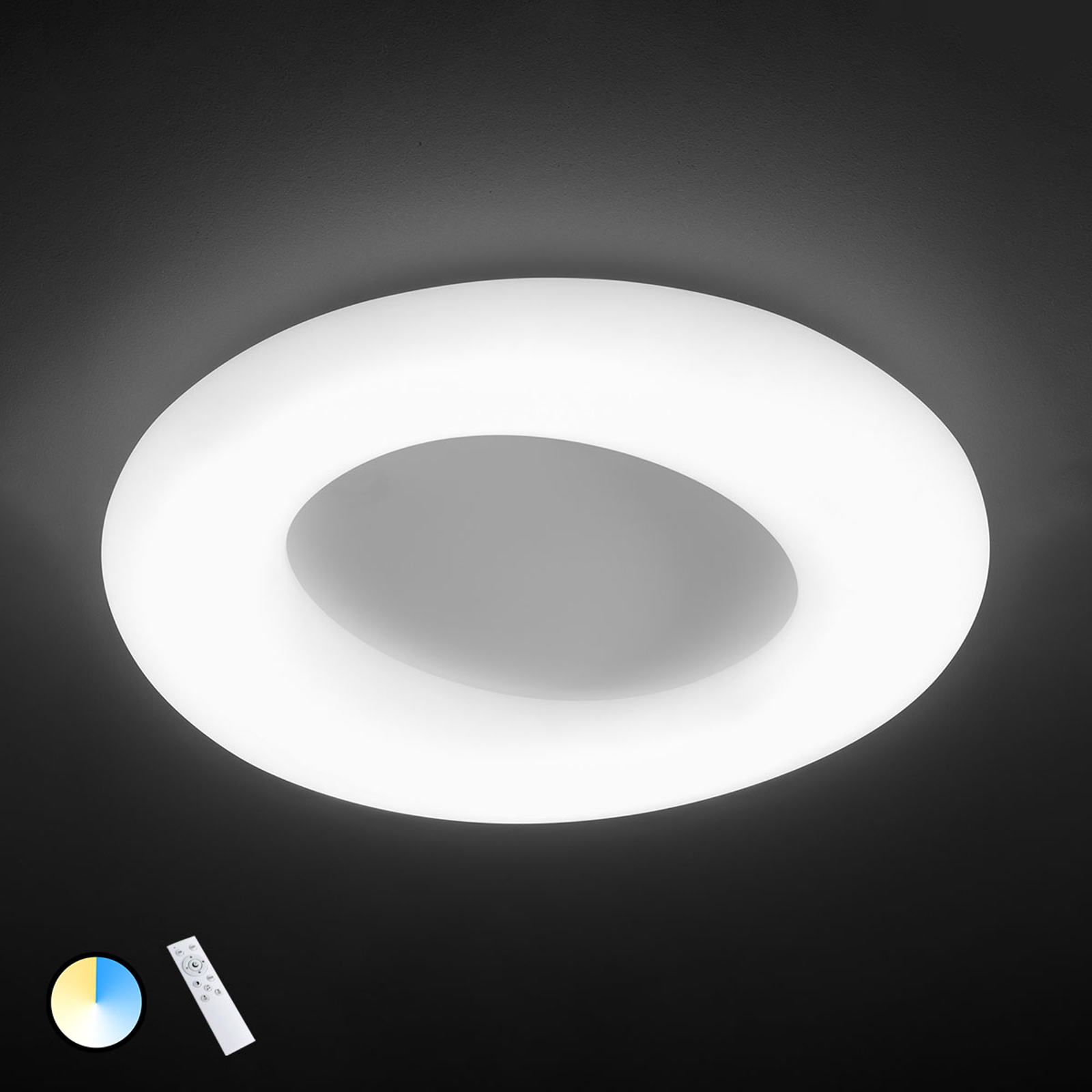 Justerbar LED-taklampa County, Ø 75 cm