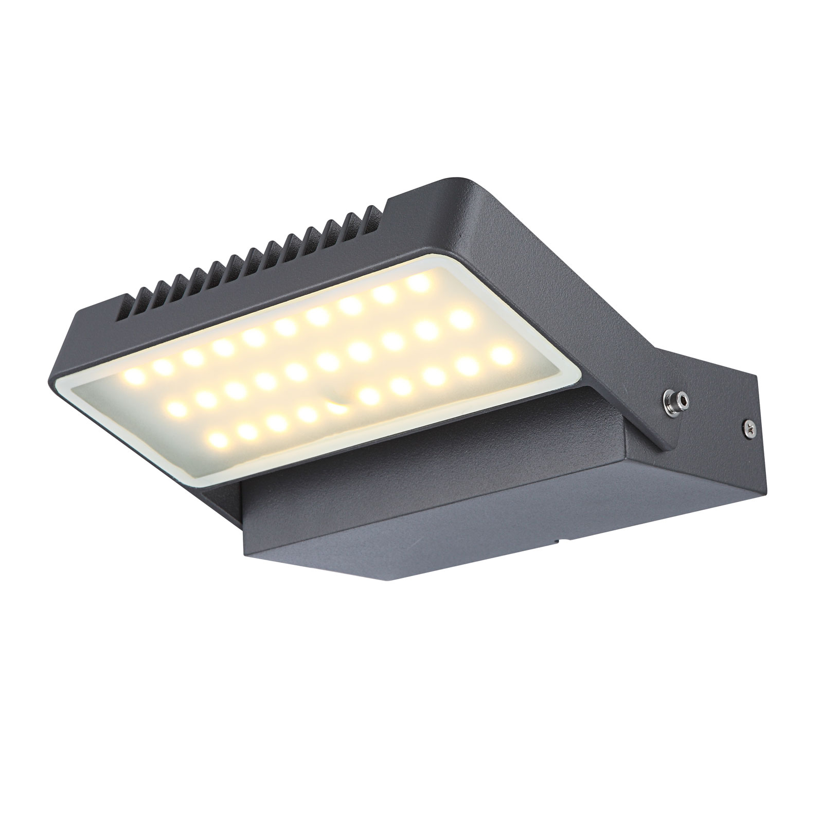 LED buitenwandspot Chana, beweegbare reflectorlamp