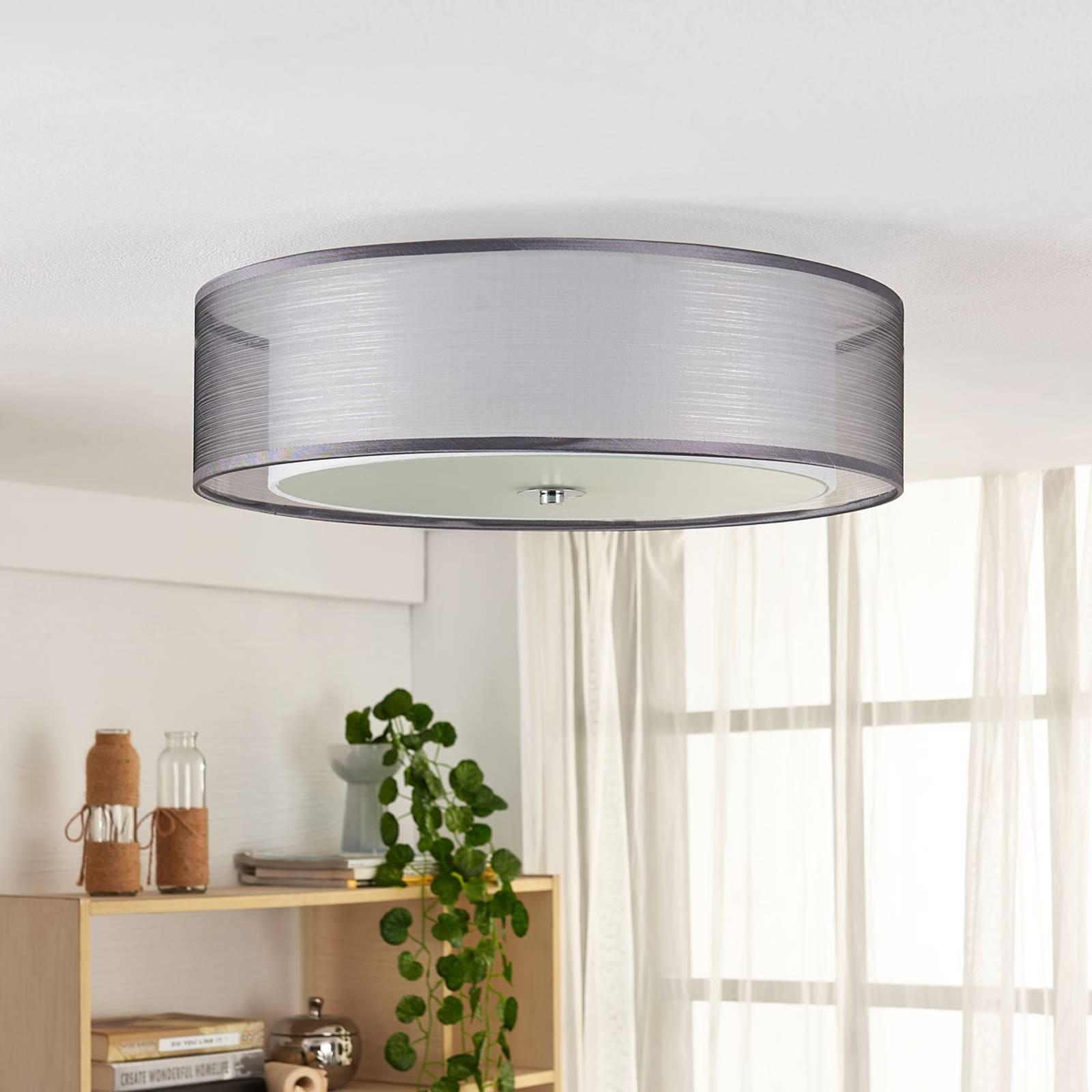 Lampa sufitowa LED Tobia, ściemniana, szara