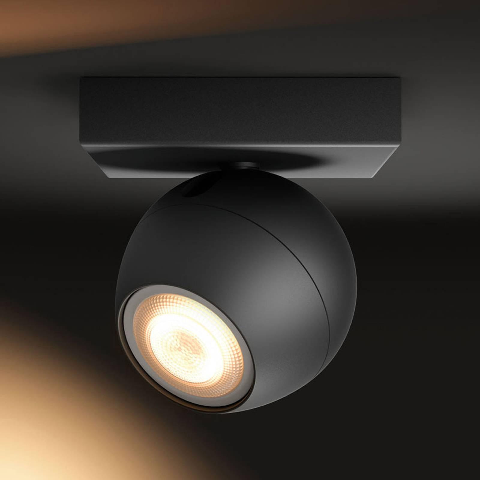 Philips Hue Buckram spot LED nero con dimmer
