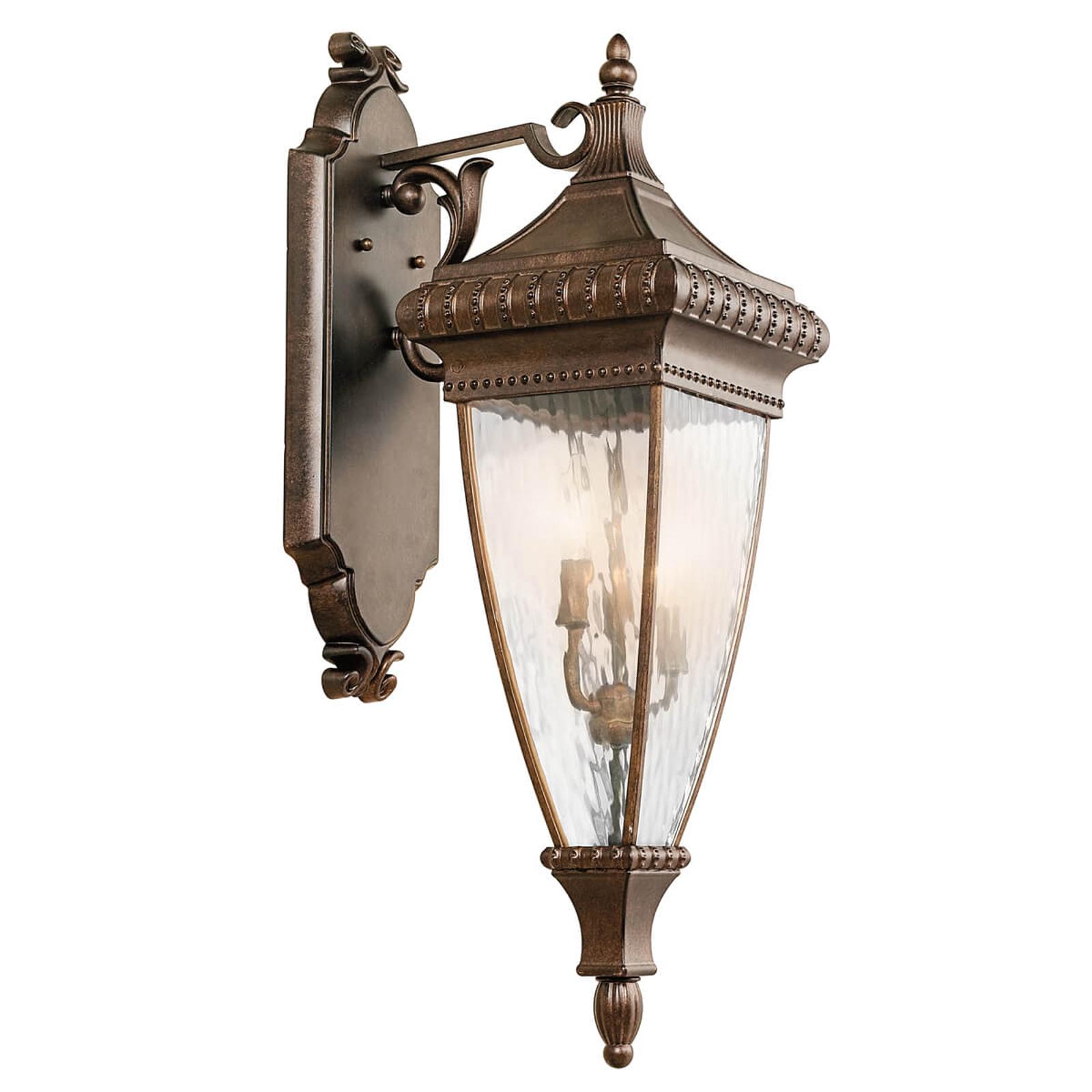 Zdobiona latarnia – lampa ścienna Venetian Rain