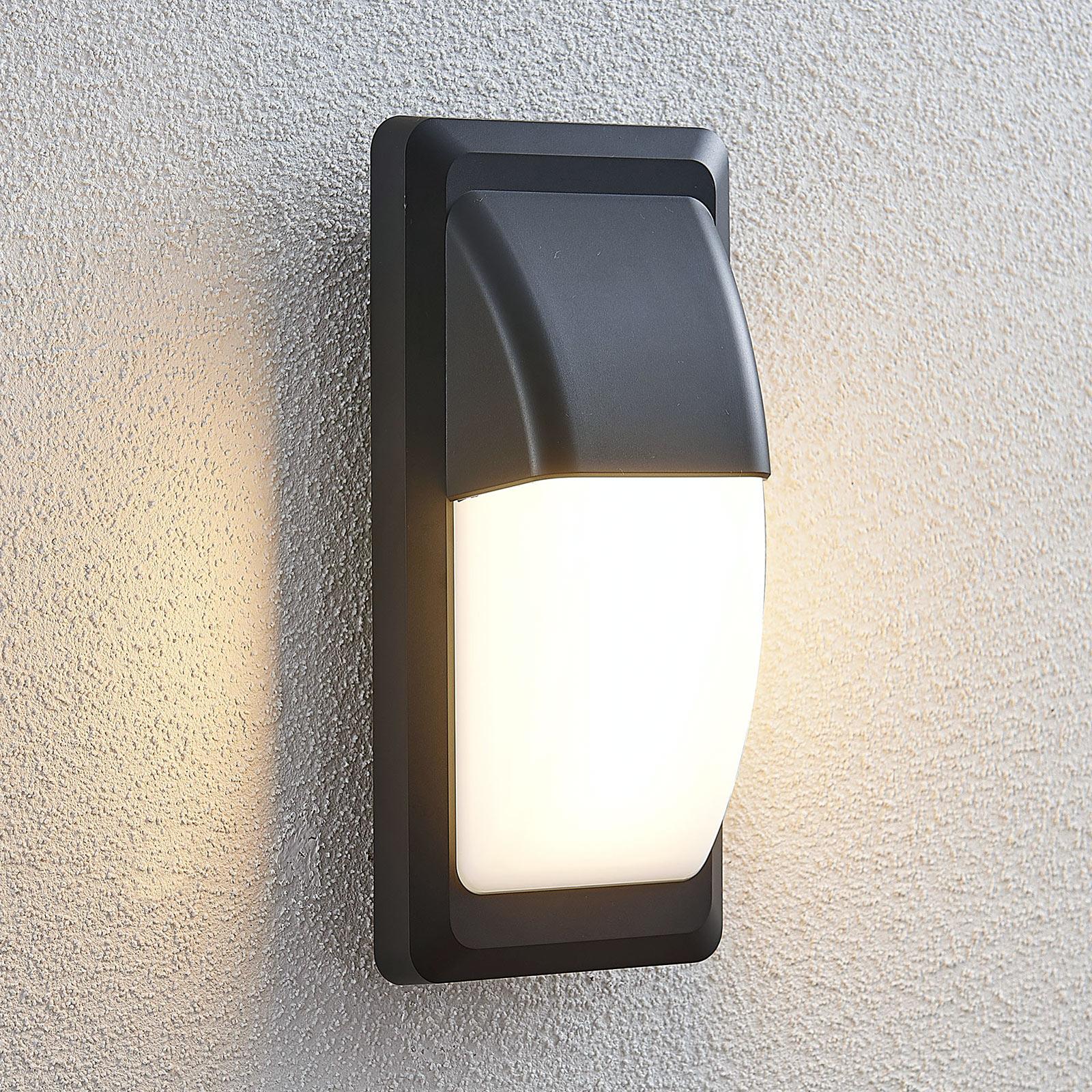 Applique d'extérieur LED Nikan, IP65, gris foncé