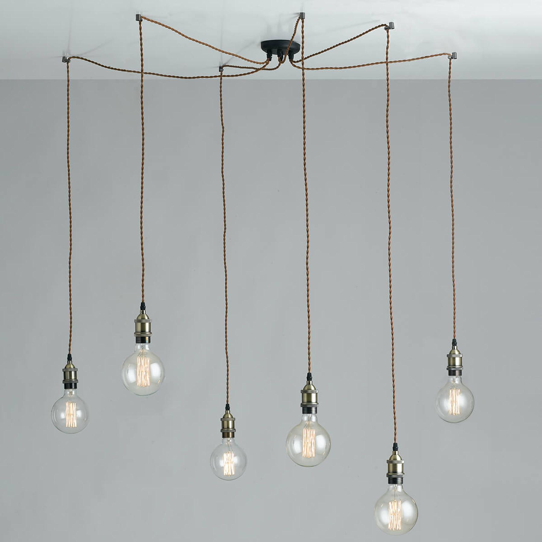 Groove – lampa wisząca o wyglądzie pająka, vintage