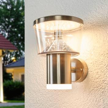 Aplique LED para exterior Antje acero inoxidable