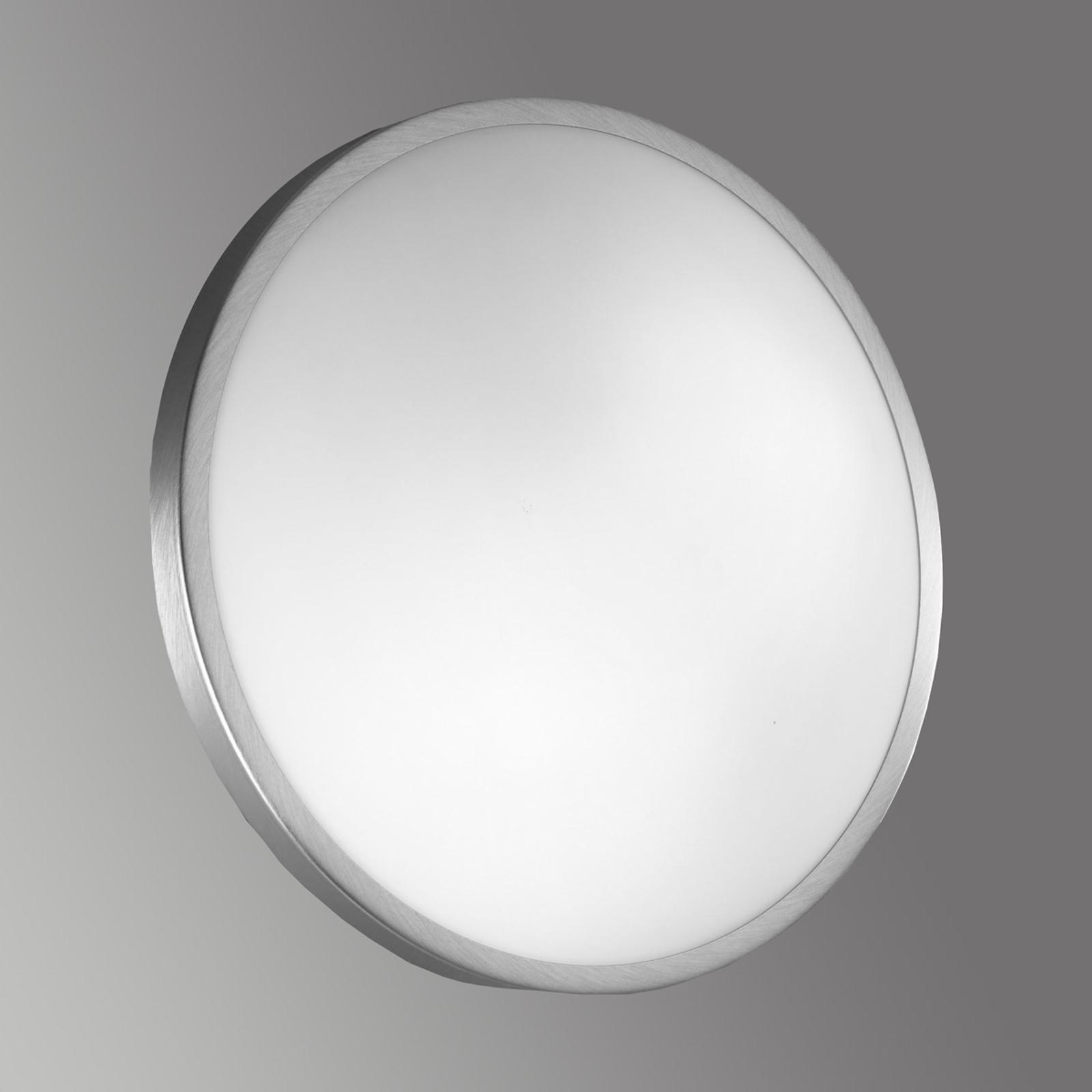 Szklana lampa sufitowa i ścienna PLAZA, nikiel