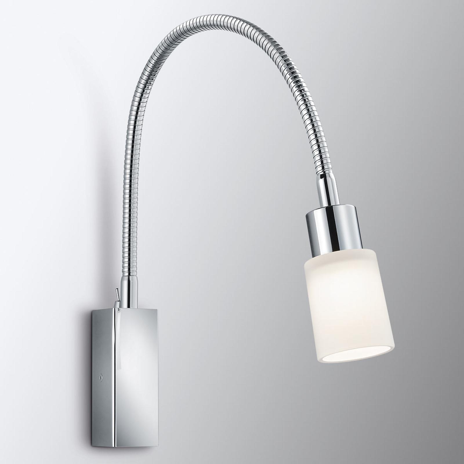 Flexible LED-Wandlampe Poseidon in Chromoptik
