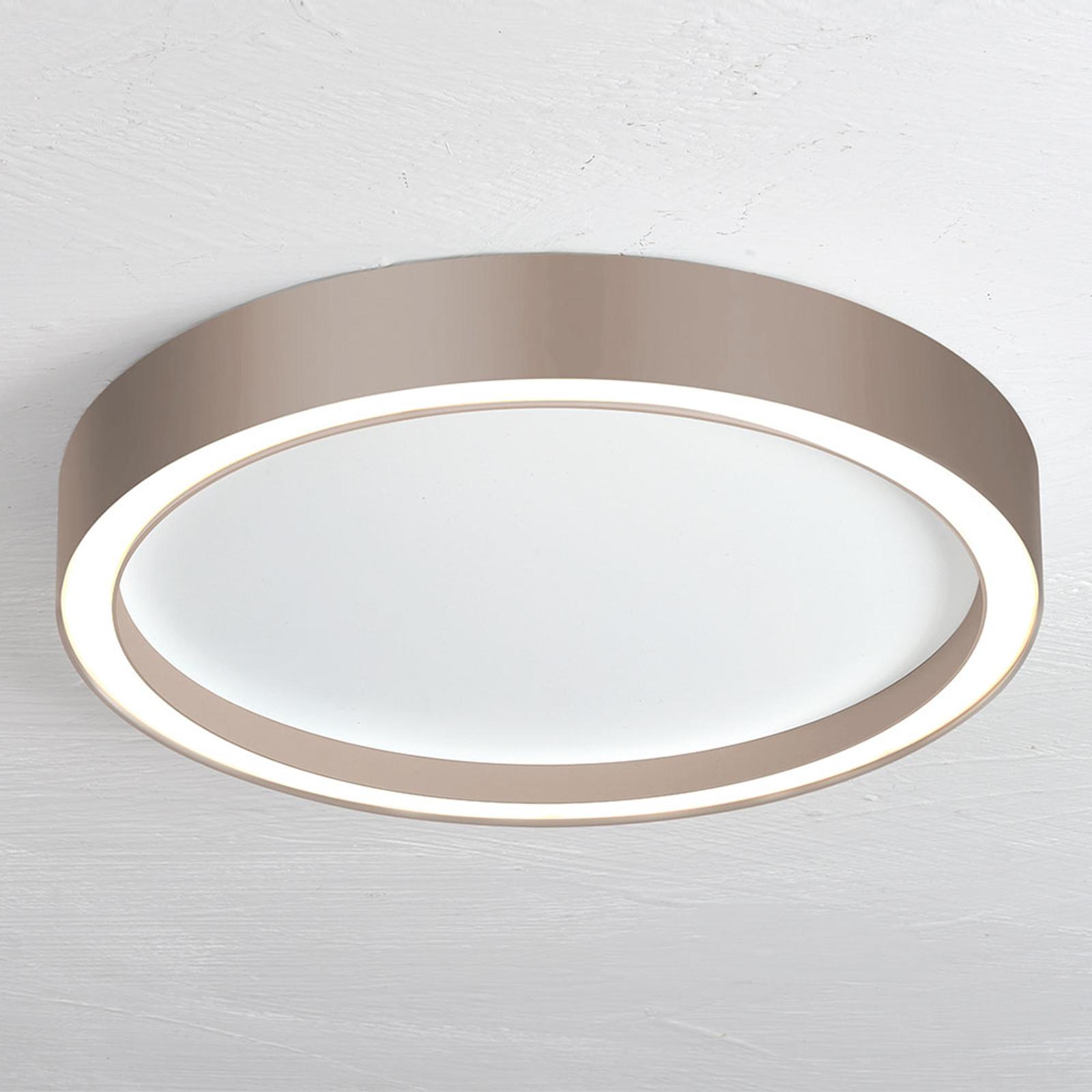 Bopp Aura LED plafondlamp Ø 40cm wit/taupe