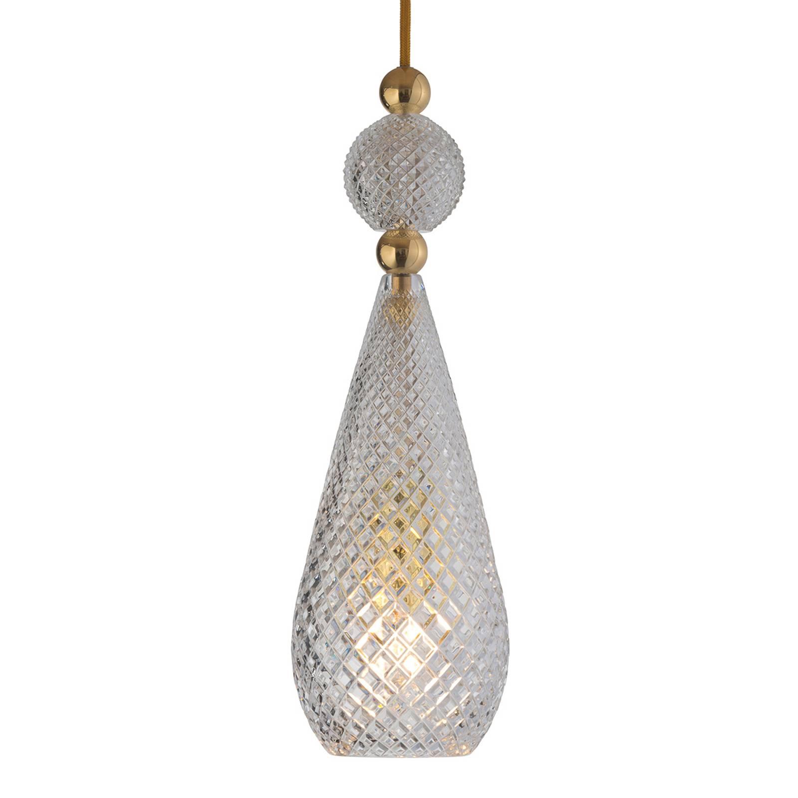EBB & FLOW Smykke lampa wisząca złota, kryształowa