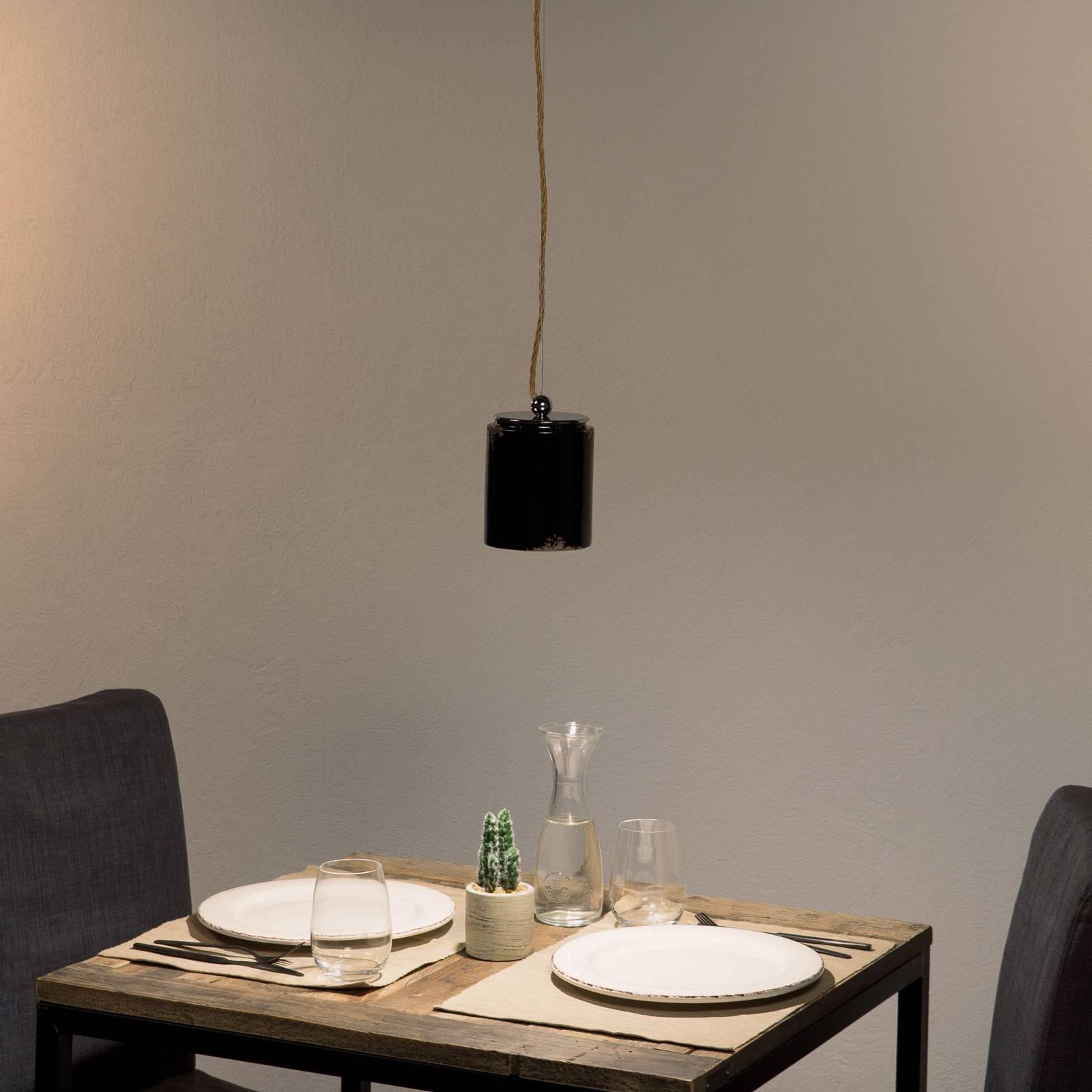 Lampa wisząca vintage C984 czarna