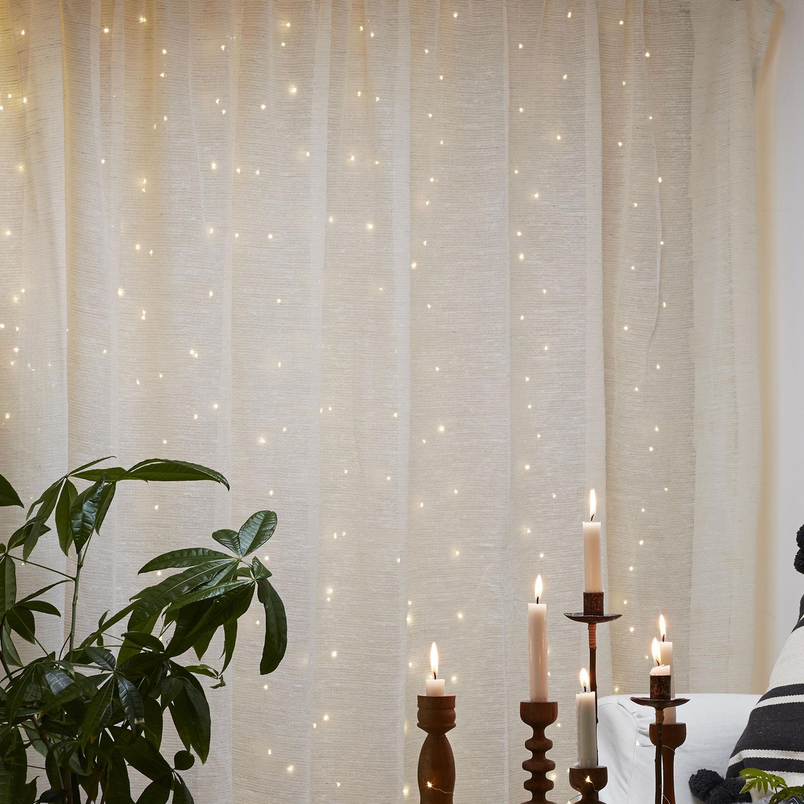 Kurtyna świetlna LED Dew Drops, wysokość 200 cm