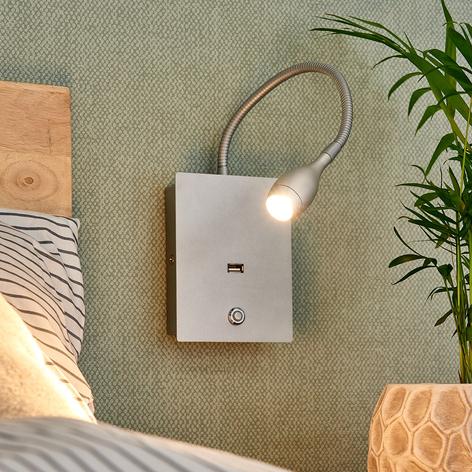 Fleksibel LED væglampe Marbod med lysdæmper