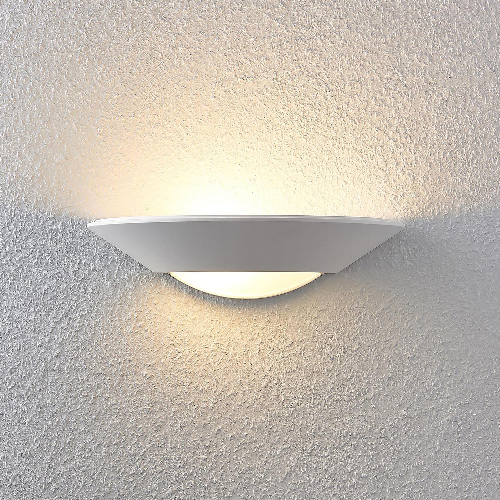 Lucande Wilka lámpara de pared de yeso